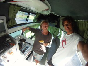 Surfboard storage in a campervan